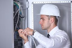 Moderner datacenter Serverraum Lizenzfreies Stockfoto