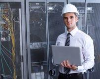 Moderner datacenter Serverraum Stockfotos