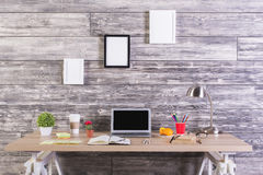 Moderner Designerdesktop Lizenzfreie Stockfotos