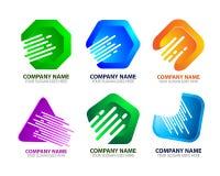 Moderner Digital-Internetanschluss Logo Icon Stockfotografie
