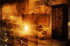 Moderner Digitaltechnikhintergrund Lizenzfreie Stockbilder
