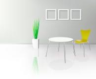 Moderner Dinning Raum-Innenraum stock abbildung