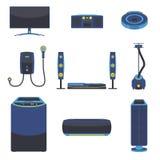 Moderner elektrischer Haushaltsgerät-Vektor Stockfotos