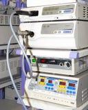 Moderner Endoskopieausrüstungssatz Stockfotos