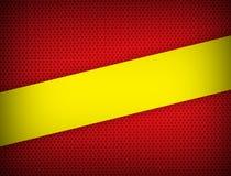 Moderner Entwurf des roten und gelben Farbgeometrischen Zusammenfassungshintergrundes mit Kopienraum Vektorillustration lizenzfreie abbildung