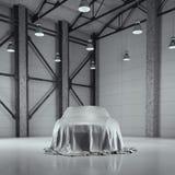Moderner Fabrikdachbodenhangar mit Fotostudio Wiedergabe 3d Stockfotografie