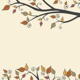 Moderner Fall Autumn Leaves Branch Square Background 1 Lizenzfreie Stockfotografie