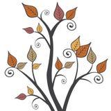 Moderner Fall Autumn Leaves Branches Square Illustration Lizenzfreie Stockbilder