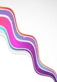 Moderner Farbenhintergrund mit Wellen lizenzfreie abbildung