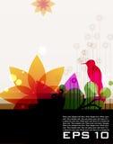 Moderner farbiger Blumenhintergrund Lizenzfreies Stockfoto