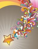 Moderner farbiger Hintergrund Stockbild