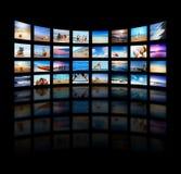 Moderner Fernsehapparat rastert Panel Stockfoto