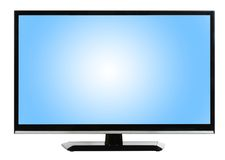 Fernseher Hintergrund moderner fernseher lokalisiert am weißen hintergrund stockfoto