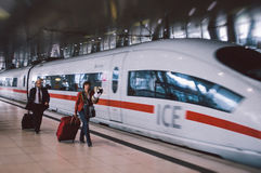 Moderner Filmeffekt Frankfurt-Flughafens Lizenzfreies Stockfoto