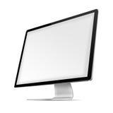 Moderner Flachbildschirmcomputermonitor Stockfotografie