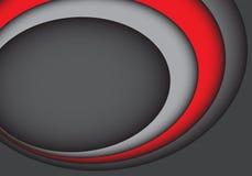 Moderner futuristischer Hintergrundvektor abstrakten roten grauen Kurve overlab Designs vektor abbildung