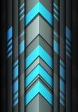 Moderner futuristischer Hintergrundvektor des abstrakten blauen hellgrauen Richtungsdesigns des Pfeiles 3D Stockfoto