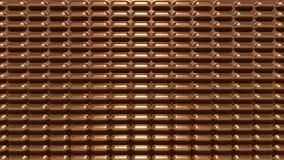 Moderner futuristischer Metallkupferhintergrund lizenzfreies stockfoto