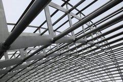 Moderner Gebäudestahlrahmen lizenzfreies stockfoto