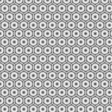 Moderner geometrischer abstrakter nahtloser Hintergrund des grauen Vektors in Form von Hexagonen lizenzfreie abbildung
