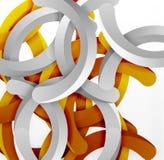 Moderner geometrischer Hintergrund der Art 3d, wölben Kreislinien Lizenzfreie Stockfotos