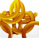 Moderner geometrischer Hintergrund der Art 3d, wölben Kreislinien Lizenzfreies Stockfoto