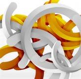 Moderner geometrischer Hintergrund der Art 3d, wölben Kreislinien Stockbild