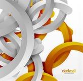 Moderner geometrischer Hintergrund der Art 3d, wölben Kreislinien Stockfotografie