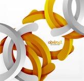 Moderner geometrischer Hintergrund der Art 3d, wölben Kreislinien Stockfoto