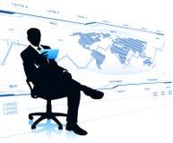 Moderner Geschäftsmann im Bürostuhl Stockfotos