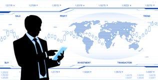 Moderner Geschäftsmanngrifftablet-computer Lizenzfreies Stockfoto