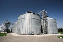 Moderner Getreidespeicher Agro-Industrie Storage Technology im Tierfutter Lizenzfreie Stockfotografie