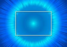 Moderner glänzender blauer Fluss für abstrakten Hintergrund lizenzfreie abbildung