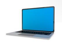 Moderner glatter Laptop auf Weiß Lizenzfreie Stockfotos