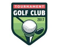 Moderner Golf-Ausweis Logo Illustration Stockbild