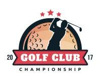 Moderner Golf-Ausweis Logo Illustration Lizenzfreie Stockfotos