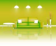 Moderner grüner lebender Platz lizenzfreie abbildung