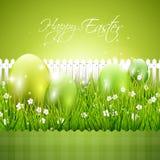 Moderner grüner Ostern-Hintergrund stock abbildung