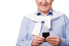 Moderner Großvater Lizenzfreies Stockfoto