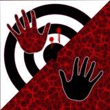 Moderner Halt die Gewalttätigkeits-Illustration lizenzfreie abbildung