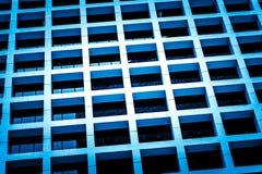 Moderner Handelsgebäudeabschluß herauf Ansicht Stockfotos
