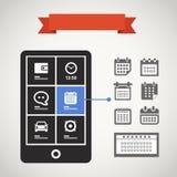 Moderner Handy lizenzfreie abbildung