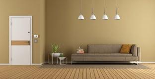 Moderner Haupteingang mit Sofa stock abbildung
