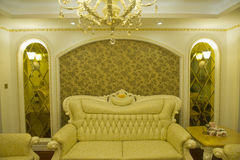 Moderner Hauptinnenraum mit Möbeln Lizenzfreie Stockfotos