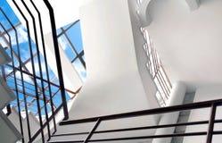 Moderner Hausinnenraum mit natürlicher Leuchte stockbilder