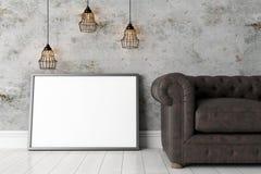 Moderner heller Innenraum 3d übertragen Stockfotografie