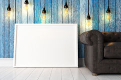 Moderner heller Innenraum 3d übertragen Lizenzfreie Stockfotografie