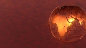 Moderner Hintergrund der Erde 3D stockfoto
