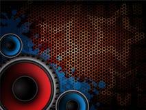 Moderner Hintergrund der Musik Stockfoto