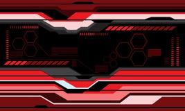 Moderner Hintergrundvektor des abstrakten roten futuristischen Technologieschirmmonitordesigns Lizenzfreie Stockbilder